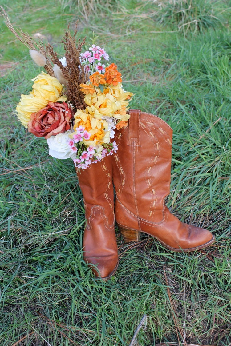 Flower Picking Cowboy Boots By Silkwormvintage On Etsy