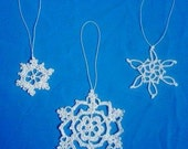 Mini Doily, Christmas Ornament, Snowflake, Dreamcatcher PDF Pattern instant download