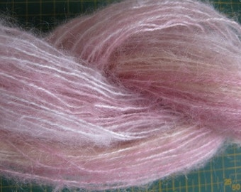 Handdyed Mohair Yarn varigated pink