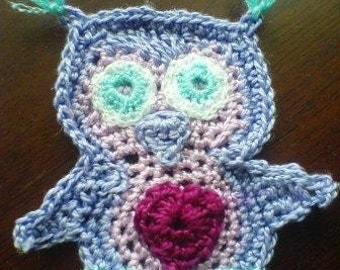 Cute little owl applique pdf pattern instant download