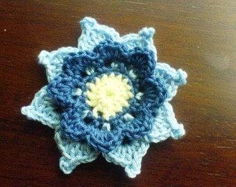 Triple Star Flower PDF crochet Pattern instant download
