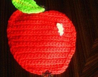 Crochet PDF Pattern Apple Coaster instant download
