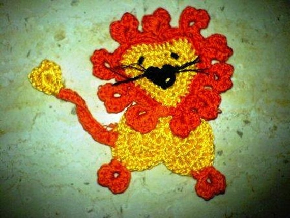 Crochet PDF Pattern Cute Lion instant download
