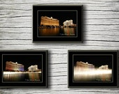 Travel Photography City Photograph Night photo Las Vegas Black wall art office decor Set of three  Fine Art Photography Prints