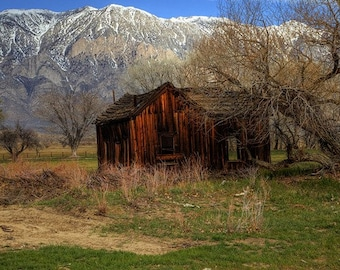 Rustic country photography Landscape photography  Shed Old Barn Country Wall Decor Home decor Fine Art Photography Print