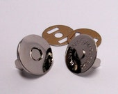 Magnetic bag Clasp Nickel Thin 18mm x 10