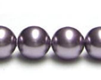 6 mm Swarovski mauve pearls - quantity 20