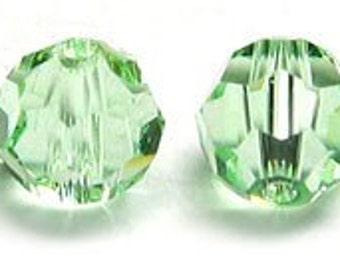 8 mm Swarovski round Chrysolite - Quantity 5
