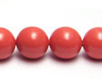 6 mm Swarovski coral pearls - quantity 20
