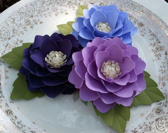 Paper Flowers - Weddings - Placecards - Home Decor - Elizabeth Rose - Royal Purple - Purple - Lavender - Set of 50