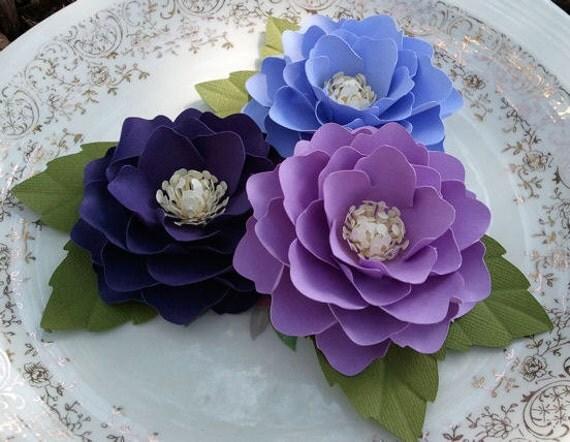 Paper Flowers - Weddings - Placecards - Home Decor - Elizabeth Rose - Royal Purple - Purple - Lavender - Set of 50