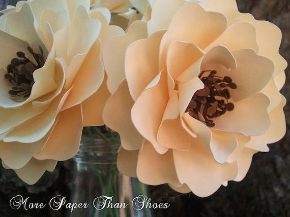 Paper Flowers - Weddings - Birthdays - Baby Showers - Stemmed Flowers - Wide Variety Of Colors - Set of 24