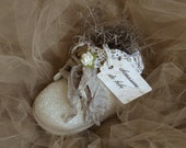Baby Shoe, Shabby Chic, Shabby Chic Baby Shoe, Altered Baby shoe, white,