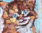 Kitten- Cat Painting 6 x 6 inches