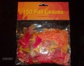 150 fabric fall leaves