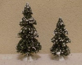 Snow covered Miniature trees