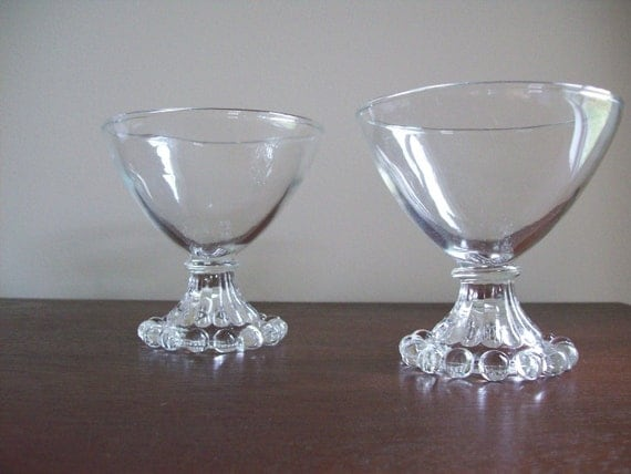 Candlewick Imperial Glass Wine Stem Hobnail Goblets