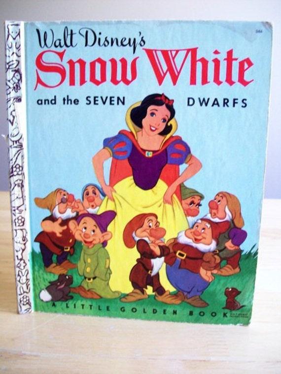 Snow White Book Cover ~ S walt disney snow white and seven dwarfs by
