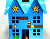 Mario Land Hand Painted Paper Mache House