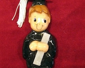 graduate ornament handmade from bread dough by judy caron