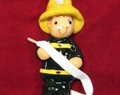 firefighter ornament handmade bread dough by judy caron
