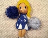 cheerleader ornament handmade bread dough by judy caron