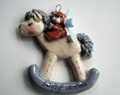 Baby's First Christmas Rockinghorse ornament (boy)