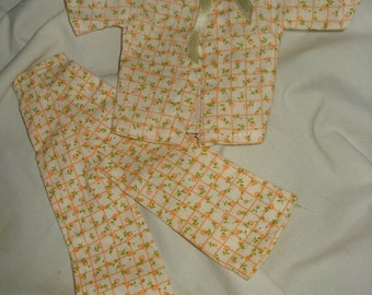Vintage handmade Fashion Doll pajamas  -  ev03