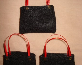 PARTY FAVOR - 3 Fashion Doll sized tote bags - bpf3