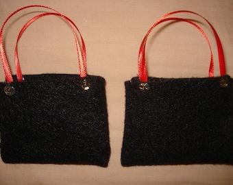 Two Fashion Doll sized tote bag set - ed202
