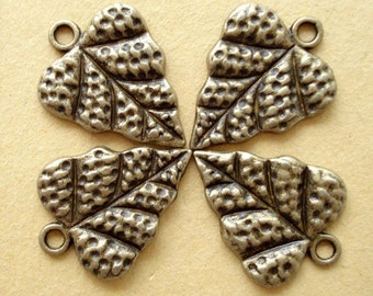 10pcsLeaf Antiqued Bronze/ Pendant/ B346