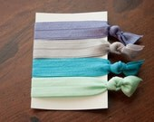 Hand-Tied Hair Elastics in Pretty Pastels