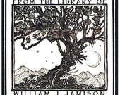 Tree of Knowledge - Vintage Bookplates - Personalized Bookplates