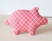 Pink Piggie Dog Toy
