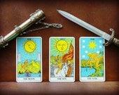 Tarot Card Reading. Three Card Spread
