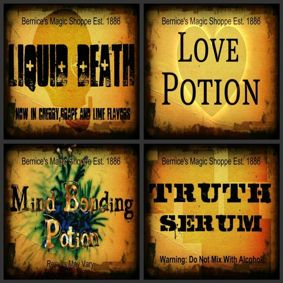 Love Potion Drink Labels: Items Similar To Digital Halloween And Potion Labels. With