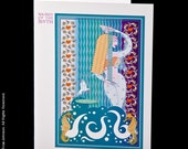 Set of Five Different Goddess Blank Greeting Cards