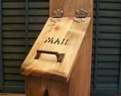 Wooden Mailbox with Star