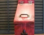 Wooden Mailbox with Fleur De Lis