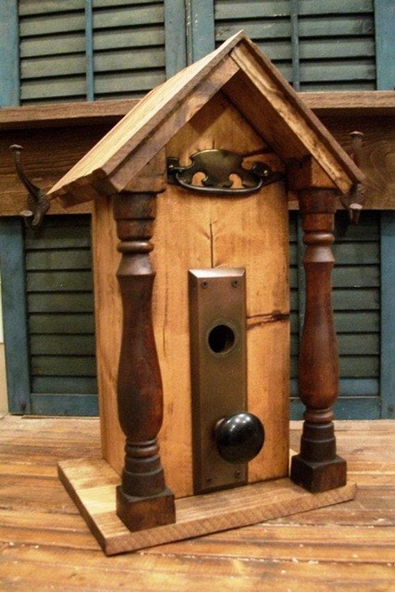 Upcycled Vintage BirdHouse-ON SALE