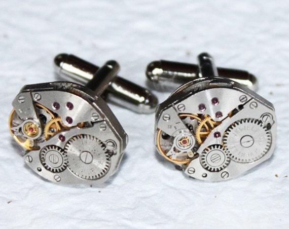 Steampunk Wedding Gifts: Men Wedding Gift Steampunk Cufflinks Matching RUSSIAN