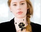 Velvet Rose summer fling ruffled collar ascot - VAUNTD