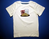 Baby one piece or toddler tshirt - Embroidery and appliqued cookies for santa