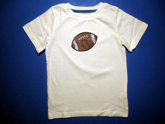 Baby one piece or toddler tshirt - Embroidery and appliqued football