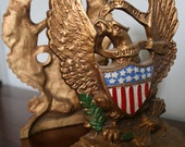 Vintage American Eagle Bookends