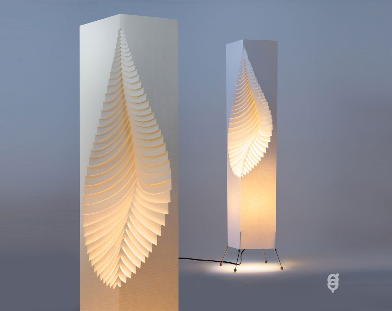 Leaf design paper lamp wire stand for Lamp design