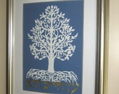 Tree of Life (Etz Haim) judaica papercut (framed)