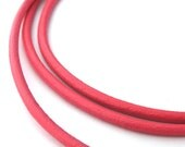 LRD0120016) 1 meter of 2.0mm Pink Round Leather Cord