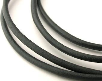 LRD0120034) 2.0mm Shimmer Genuine Round Leather Cord.  1 meter, 3 meters, 5 meters, 10 meters.  Length Available.