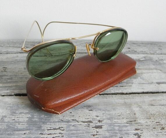 American optical vintage green lenses